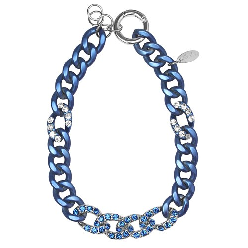 Kette Nightly blue metal mit SWAROVSKI ELEMENTS saphir und crystal by PIMP-YOU / PIDUE