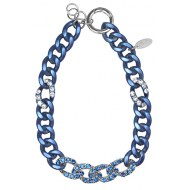 Ketten » Kette Nightly blue metal mit SWAROVSKI ELEMENTS saphir und crystal by PIMP-YOU / PIDUE