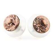Ohrringe » Ohrstecker Aurora 8mm mit Swarovski light peach
